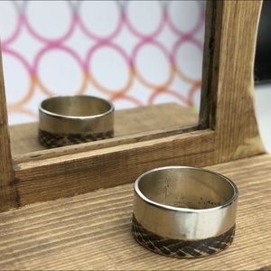 Sterling silver band ring w/co-ax imprint!